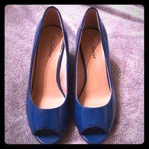Shoes - Blue wedge heels